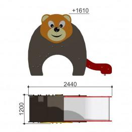 "Горка ""Медведь h-650"" 110.10.00"