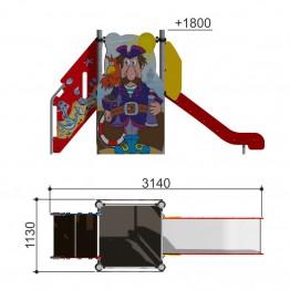 """Горка """"Пират h-950"""" 110.12.00-01"""