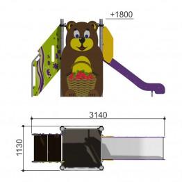 "Горка ""Мишка h-950"" 110.12.00"