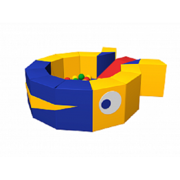 Сухой бассейн с шариками «Кит» ДМФ-МК-16.18.00