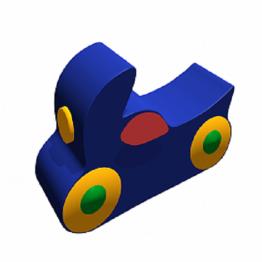 Контурная игрушка «Мотоцикл» ДМФ-МК-01.94.02